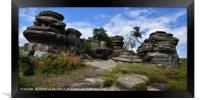 Brimham Rocks, North Yorkshire, England., Framed Print