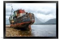 Old Boat at Corpatch Scotland, Framed Print