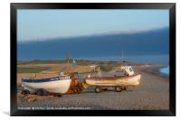 Morning Sun on the Fishing Boats, Framed Print