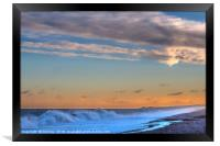 Winter Sunrise at Cley Beach, Framed Print