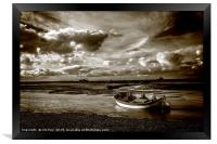 Boat in a Storm, Framed Print