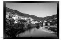 The Orb Roquebrun France Black and White, Framed Print