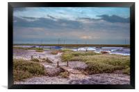 Footpath to the Boats, Framed Print