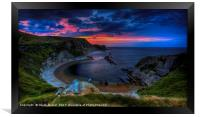 Man O'War Bay sunrise, Framed Print