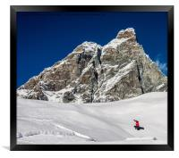 Freestyle Snowboarding, Framed Print