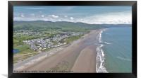 Barmouth Bay from above, Framed Print