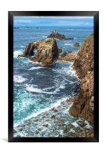 Enys Dodnan and the Armed Knight at Lands End 2, Framed Print