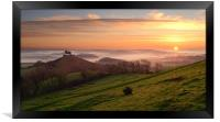 Colmer's Hill Panorama, Framed Print