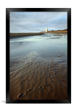 Footprints to the Low Lighthouse, Framed Print
