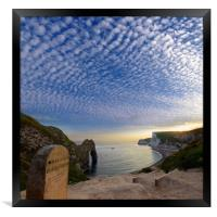 Durdle and the Clouds, Framed Print