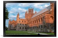 Turning red during the sunset, Ely Cathedral in al, Framed Print