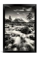 The Alt Fhaolain and Stob na Broige, Glen Etive., Framed Print