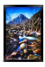 Stob Dearg with a impressionist painting effect., Framed Print