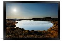 Sunset over Loch na Clarlaich to the Isle of Skye., Framed Print
