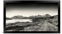 The Sound of Raasay and The Cuillin range No.2, Framed Print