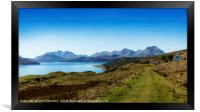 The Sound of Raasay and The Cuillin mountain range, Framed Print