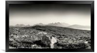 View from Dun Cann to the Isle of Skye., Framed Print
