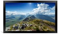 View down Buachaille Etive Mor., Framed Print