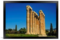 Temple of Olympian Zeus in Winter Sunshine, Framed Print