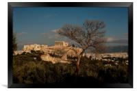 The Acropolis from Filopappou Hill, Framed Print