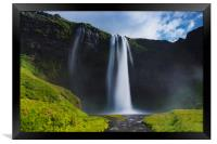 Seljalandsfoss are one of the impressive waterfall, Framed Print