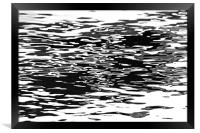 Water Abstract Black And White, Framed Print