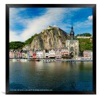 Downtown Dinant, Framed Print