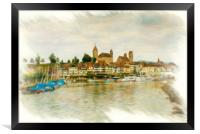 Rapperswil Cityscape 2, Framed Print