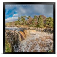 Swollen River Tees at Low Force Waterfall, Autumn, Framed Print