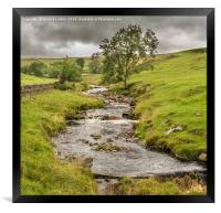 Ettersgill Beck Teesdale after a Wet Day 2, Framed Print