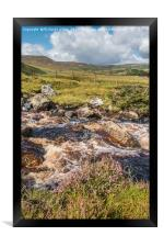 Over Blea Beck towards Cronkley Fell, Teesdale, Framed Print