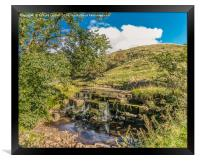 Waterfall on Ettersgill Beck, Early Autumn, Framed Print
