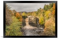Autumn at High Force Waterfall, Teesdale, Framed Print