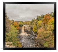 High Force Waterfall, Teesdale, in Autumn, Framed Print