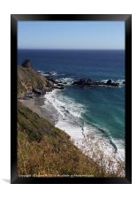 Gorgeous coastal view off Highway 1, Framed Print