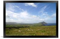 The rich colors of the Irish landscape, Framed Print