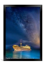 Shipwreck Milky Way, Framed Print