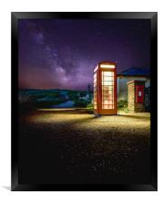 Milky Way & Red telephone box, Framed Print