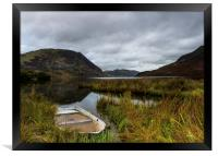 Abandoned boat on Crummock Water, Framed Print