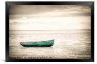 Lonely boat, Framed Print