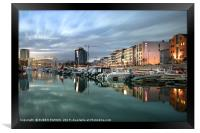 City and coastline of Bodo at evening, Norway., Framed Print