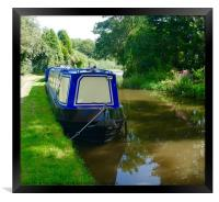 Narrowboat on Trent and Mersey Canal, Framed Print