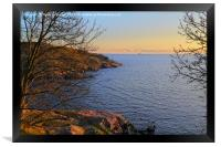 Suomenlinna Seaside at Sunset, Framed Print