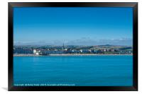 Weymouth Bay with Weymouth beach and the town , Framed Print
