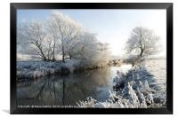 Winter on the River Lugg,  Herefordshire, Framed Print