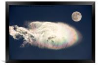 Nacreous cloud., Framed Print