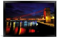South Portland Street Suspension Bridge At Night, Framed Print