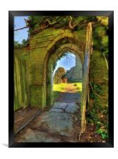 Door To The Grave, Framed Print