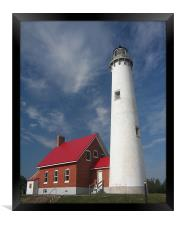 Tawas Point Lighthouse , Framed Print