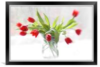 Red in Winter , Framed Print